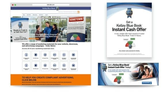 various Instant Cash Offer marketing and advertising materials