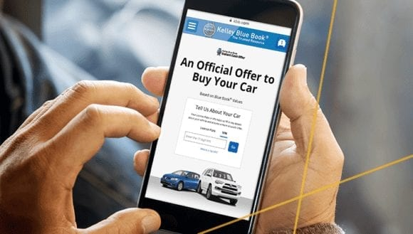 Trade-In Lead Tool Instant Cash Offer on a car shopper's phone