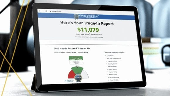 A car shopper's Trade-In Report with trade-in value from Trade-In Advisor