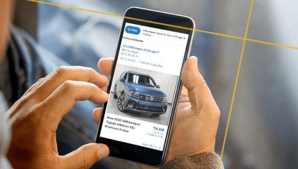 Vehicle Spotlight Ad on KBB.com on mobile phone