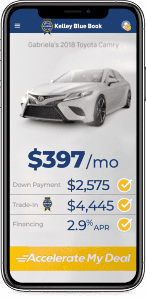 Digital Retailing Accelerate My Deal for a KBB.com vehicle listing
