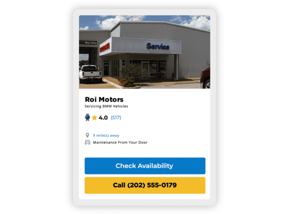Featured Auto Repair Center dealership shown in Service & Repair Center on KBB.com from mobile phone