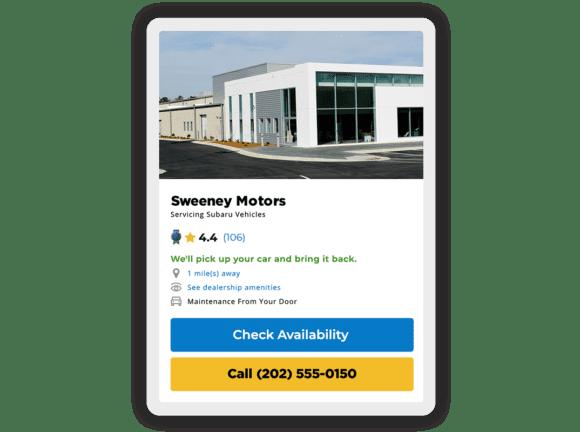 Premium Auto Repair Center dealership shown on KBB.com on mobile