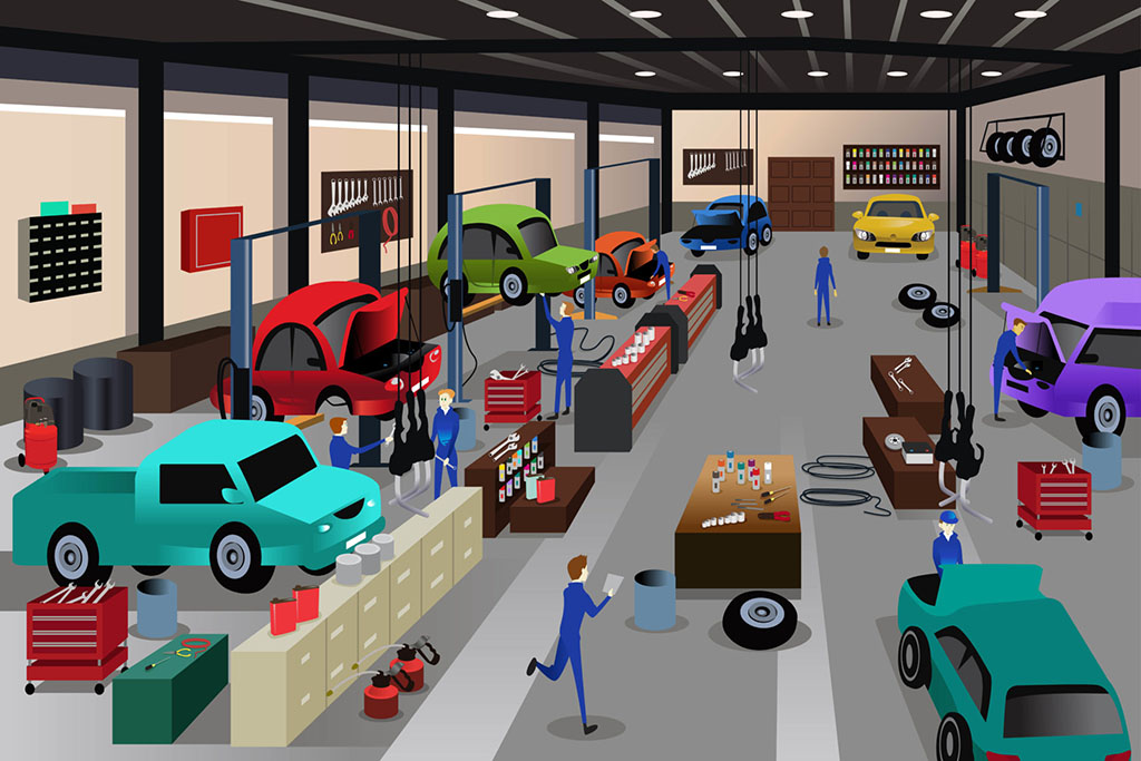 Vehicle repair shop